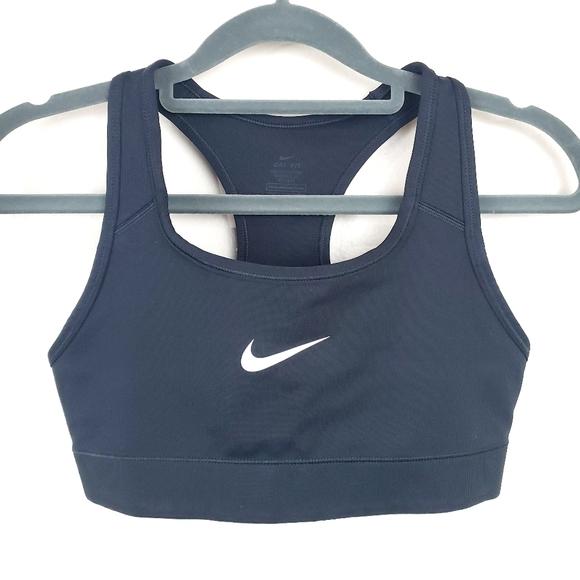 Nike Intimates Sleepwear Drifit Black Swoosh Sports Bra Poshmark